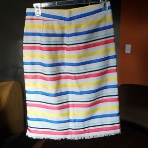 J.crew Striped Skirt